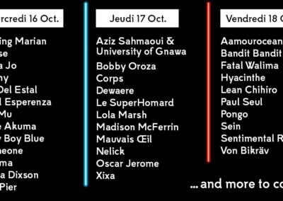 16 ARTISTES REJOIGNENT LA PROGRAMMATION FESTIVAL !